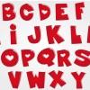 alfabeto rosso con cuori – red alphabet with hearts