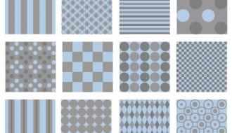 pattern strisce e pois azzurro grigio – pattern stripes and polka dots blue gray
