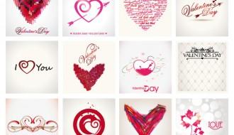 biglietti astratti San Valentino – abstract Valentine cards
