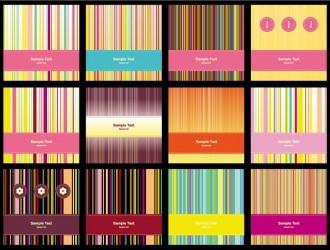 bigliettini con linee – cards with lines
