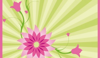 sfondo a raggi con fiori – ray background with flowers