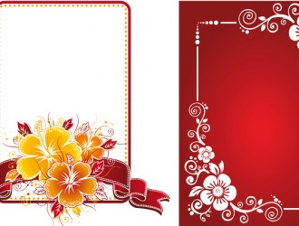 2 cornici floreali – floral frames