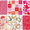 6 pattern cuori – hearts pattern