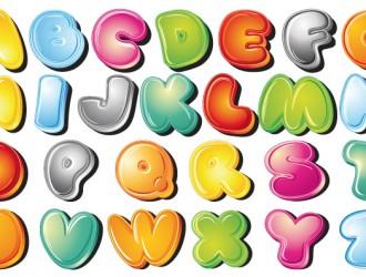 alfabeto colorato – cartoon style alphabet