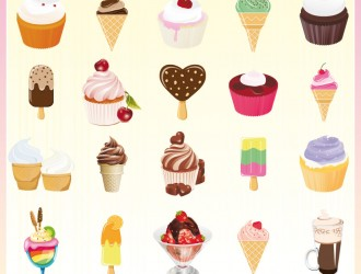 dolci e gelati – cupcake and icecream
