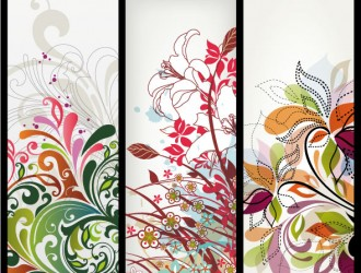 3 banner floreali – floral banner