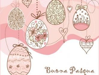 Buona Pasqua uova e cuori – Happy Easter eggs and hearts