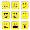 15 emoticons quadrate – square emoticons