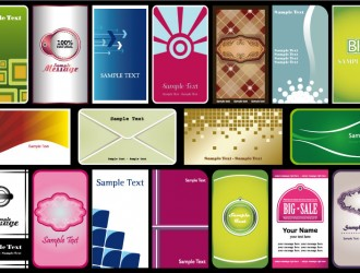 18 bigliettini da visita – business cards