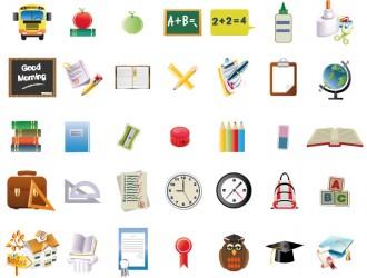 35 icone scuola – school icons