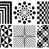 6 pattern geometrici bianco e nero – geometric pattern