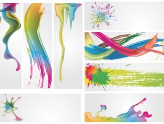 8 banner colori pittura – paint colors
