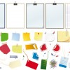post it – office clipboard – note papers – graffette – paper clips