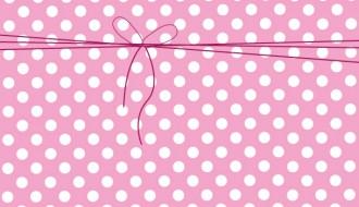 sfondo rosa a pois e fiocco – pink backgroud with polka dot