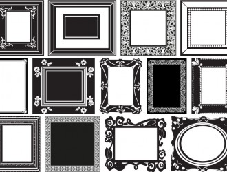13 cornici in bianco e nero – white and black frames
