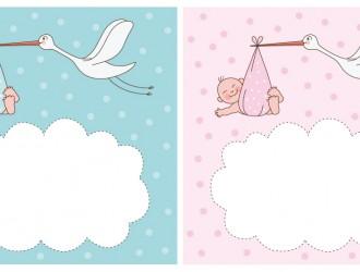 neonati con cicogna – newborns with stork