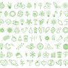 varie icone verdi – different green icons