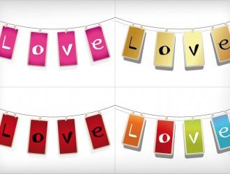 4 love appesi – love hanging labels
