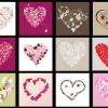 12 bigliettini floreali cuore – floral hearts cards