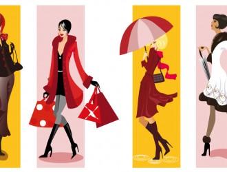 4 sagome ragazze inverno – winter girls silhouettes