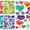 5 pattern cuori – hearts pattern