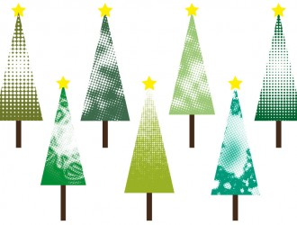 7 alberi Natale puntini – point Christmas trees