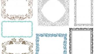 7 cornici decorative – ornamental frames