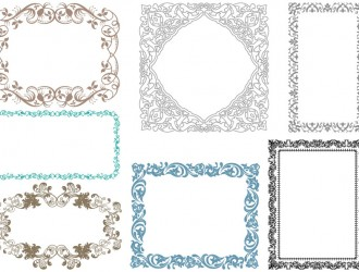 7 cornici decorative – ornamental frames