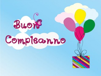 buon compleanno regalo – flying gift happy birthday