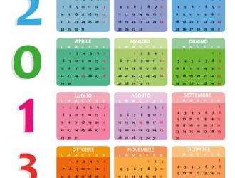 calendario 2013 quadrato – square calendar 2013