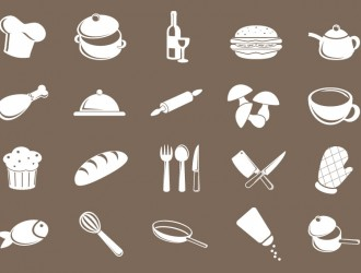 20 icone cibo – food icons