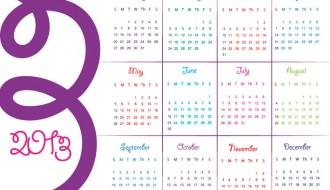calendario colorato inglese – english calendar 2013