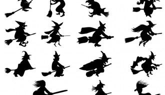 15 sagome Befana – witch silhouettes
