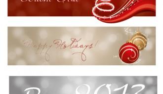 3 banner feste Natale – Christmas Holidays banner