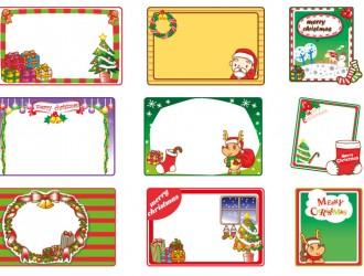 9 cornici Natale – Christmas frames