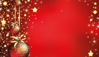 sfondo Natale rosso palline – red Christmas background