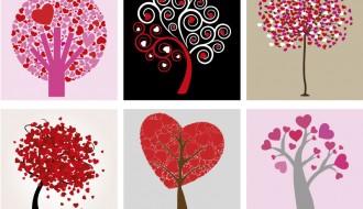 6 alberi cuori – hearts trees