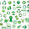icone verdi, ambiente, riciclo – green icons, recycle