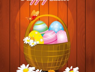 buona Pasqua cesto uova fiori – happy Easter basket flowers eggs