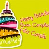 happy birthday, buon compleanno, feliz cumple torta