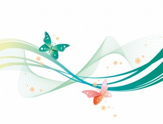 sfondo astratto onde farfalle – abstract wave with butterfly background