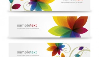 3 banner fiori – flower banners