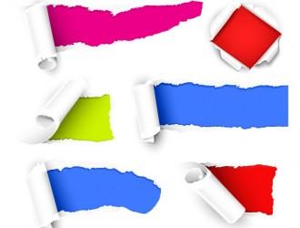 carta strappata arrotolata – torn paper