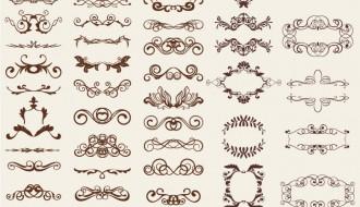 elementi decorativi – retro design elements
