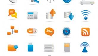 icone comunicazione – wireless and communication icons