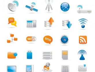 icone comunicazione – wireless and communication icons