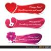 3 banner amore – sweet love banner set