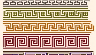 pattern geometrici decorativi – geometric ornament pattern