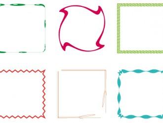 6 cornici – 6 frames