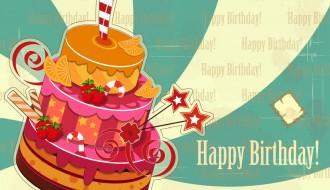 buon compleanno torta frutta – happy birthday
